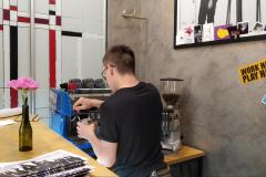 Whitebeard blackbird barista